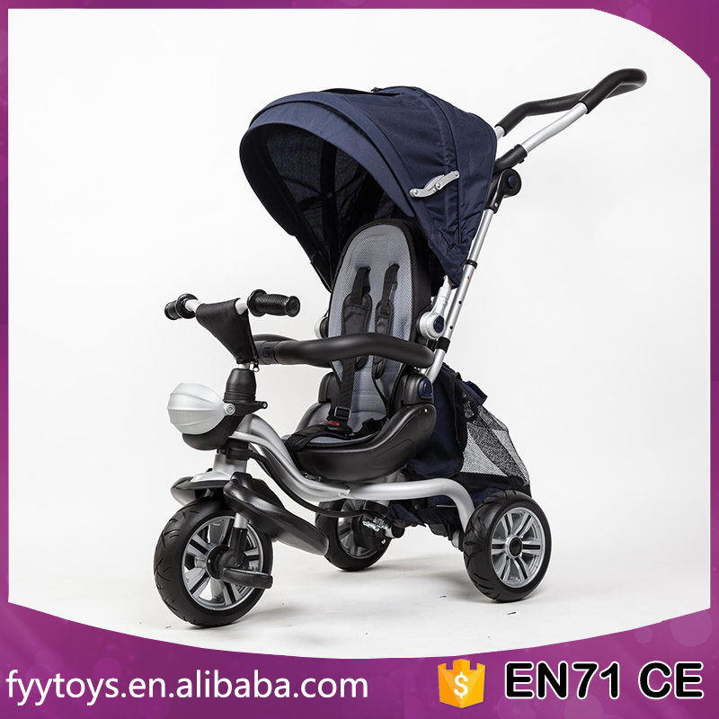 2017 new design children trike with trailer 4 in 1 push baby walker tricycle high quality kids Tricycle UK market