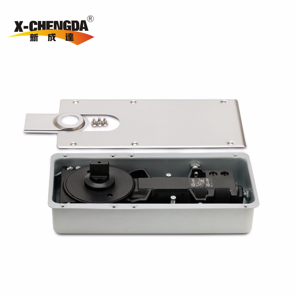 X-36 Business Floor spring Adjustable Hydraulic hinge glass door closer Floor hinge glass door or aluminum door use