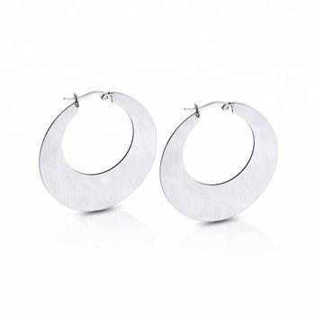 India Style Women Anium Hypoallergenic Piercing Earrings For Sensitive Ear Circle Hoop