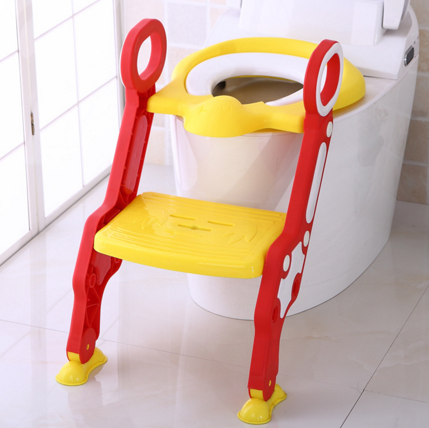 Portable Folding Seat Chair plastic baby toilet step trainer ladder kids training potty