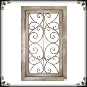 Shabby chic wooden framed indoor living room scroll plaque