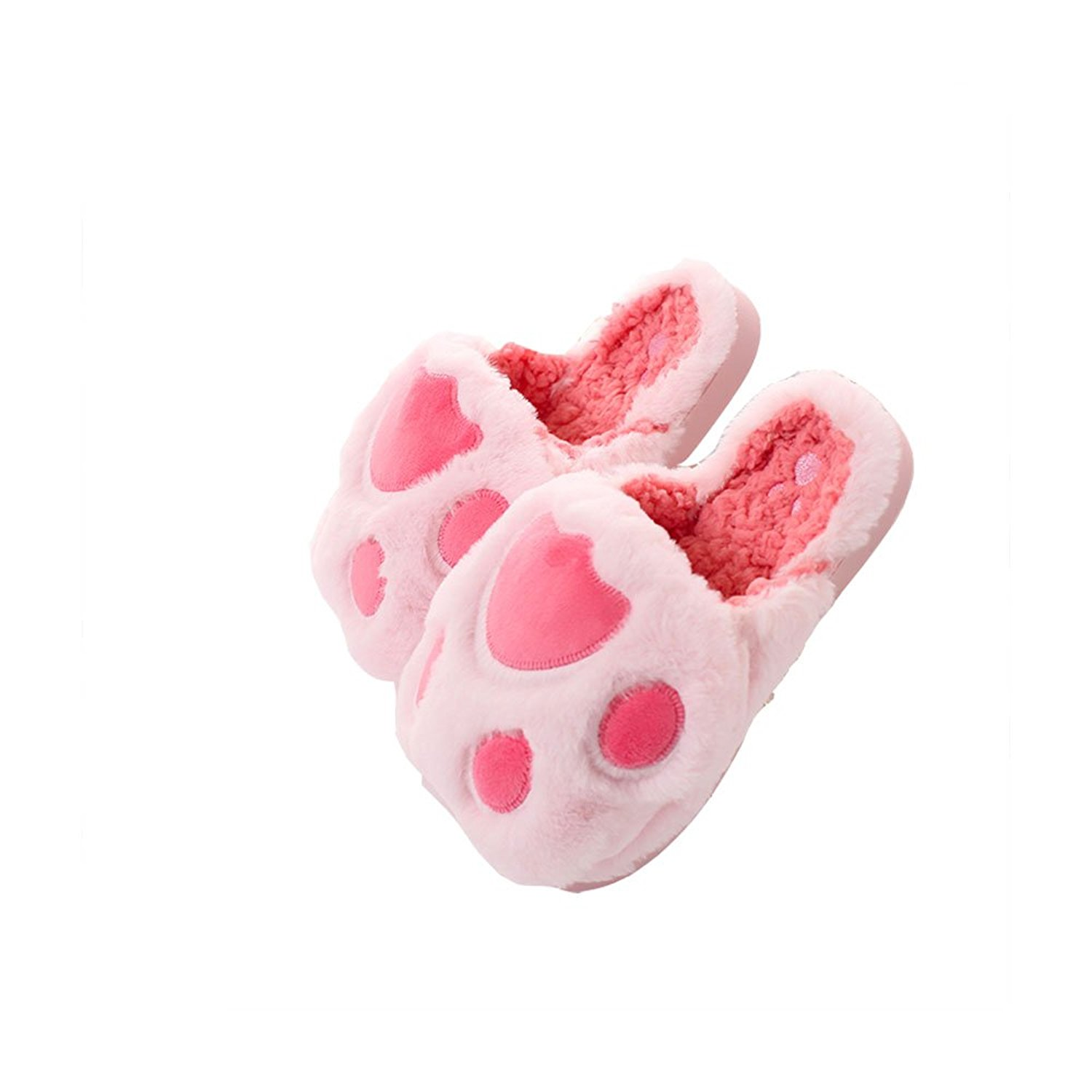 Cartoon Creative Bubble PAW Claw Animal Slippers Cute Lovely Pink Fuzzy Home Plush Slippers Cozy Fun Plush Indoor Shoe Soft Winter Clog For Women Warm Anti-Slip House Slippers Memory Foam Sole