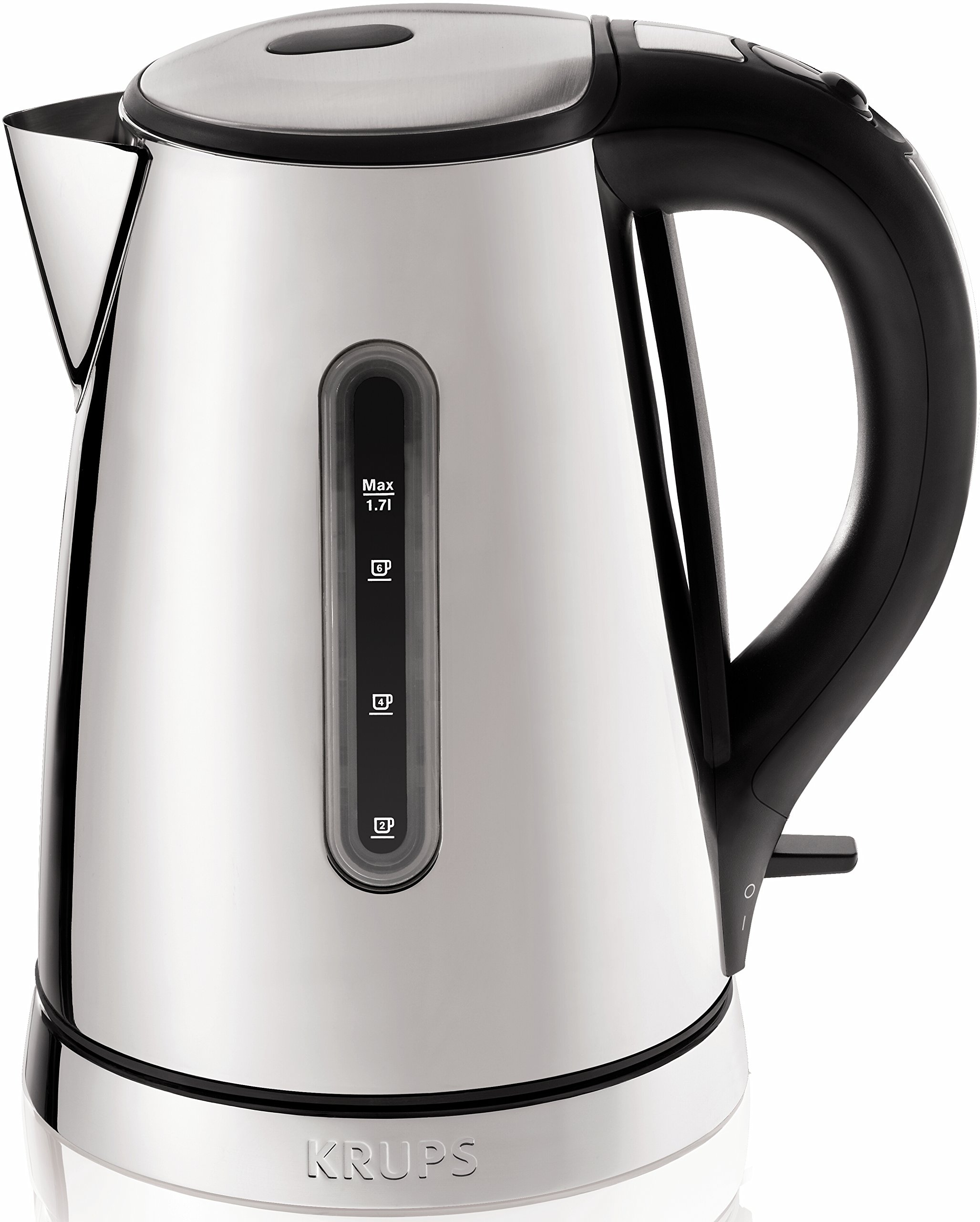 KRUPS BW730D Breakfast Set Electric Kettle with Brushed and Chrome Stainless Steel Housing, 1.7-Liter, Silver