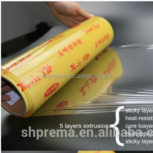 FDA Approved pvc stretch cling film roll for food wrapping