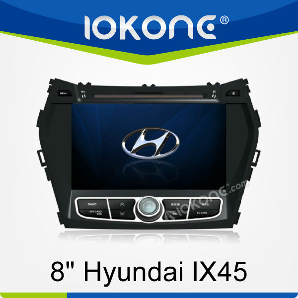 8'' HD Touch screen GPS navigation In dash Car Audio system for Hyundai IX45 with 3G
