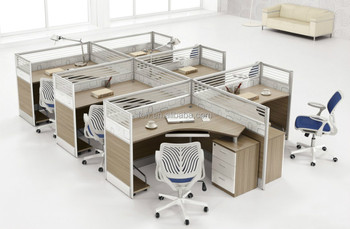 Multi Person Office Work Sattion Modular Office Workstation Furniture  (FOHP 2628 6)