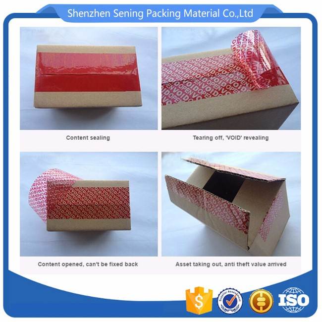 Factory supply tamper evident tag material