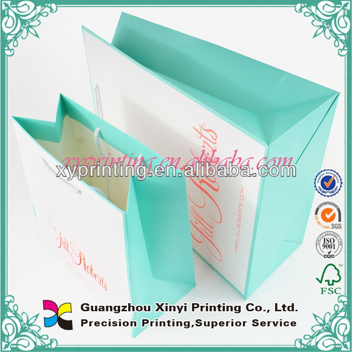 Elegant Cosmetic Printing Commercial Paper Bag Design Template