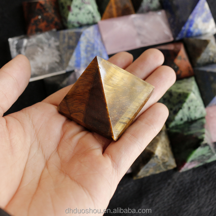 wholesale egyptian natural stone all kinds of rose quartz labradorite lapis lazulicrystal Pyramid for home decoration/gift