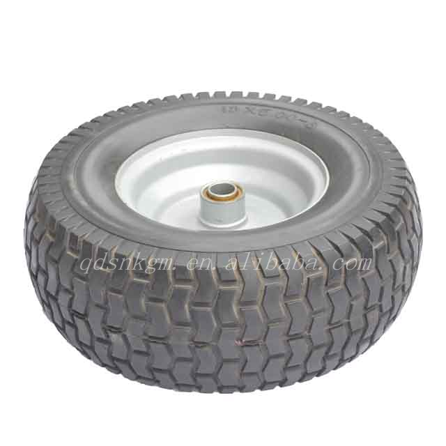 13 Inch Lawn Mower Wheel With 13x5.00-6 Flat Free PU Tyre