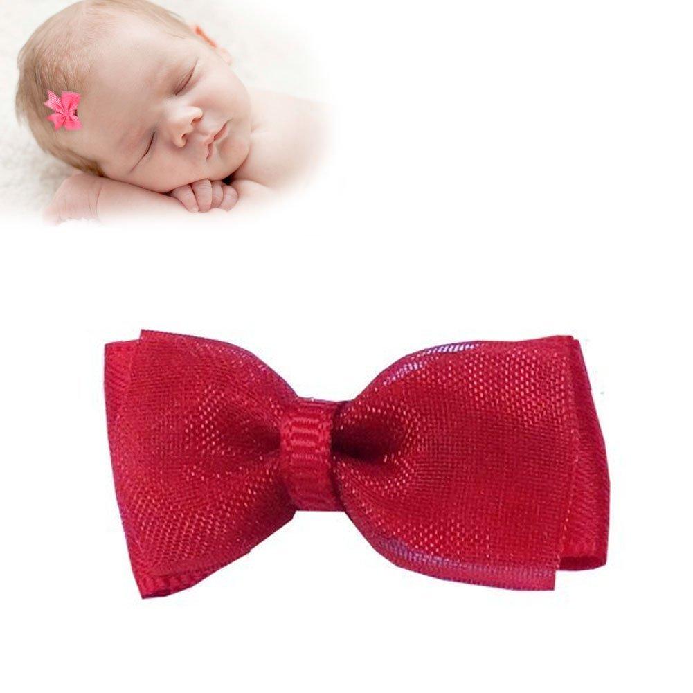 24591b46f8996 TruStay Clip - Organza baby hair bows - Best No Slip Barrette for Fine Hair  (