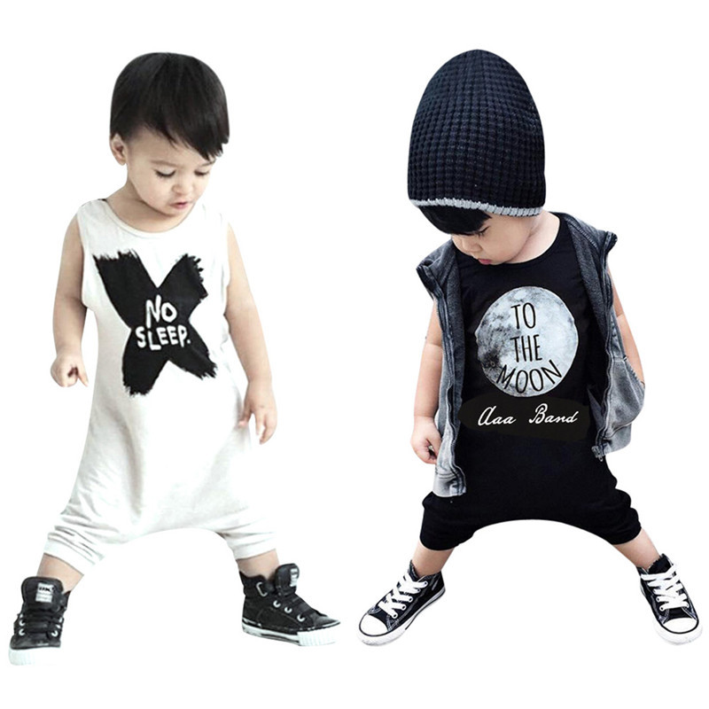 Baby Boys Girls Rompers NO SLEEP Letter Printed Infant Girl Boy Romper Children Toddler New Jumpsuit Clothing