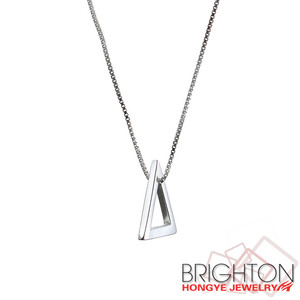 Wholesale triangle Pendent 925 Sterling Silver Pendant Necklace 5-y1070