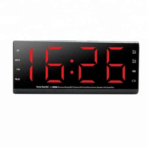 Snooze,answer phone,usb and TF card function Wireless Portable Speaker Alarm Clock Radio