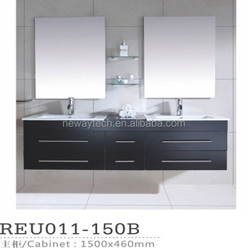 Competitive Price Pvc Wall Mounted Double Vanitydouble Sink