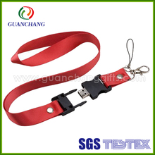 china wholesale single custom sublimation lanyard usb flash drive