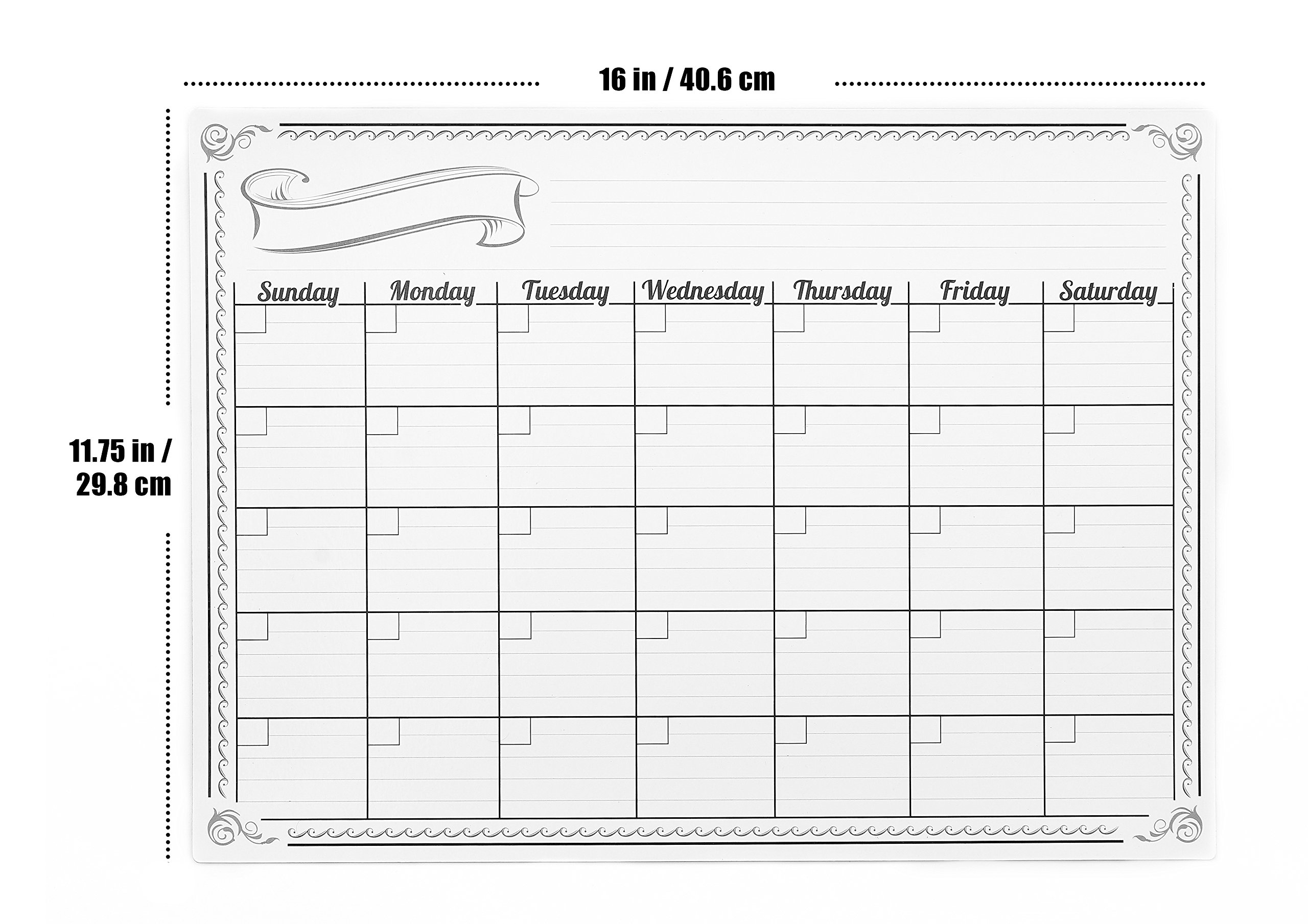 Magnetic Monthly Calendar For Refrigerator : Buy refrigerator magnetic calendar monthly dry erase whiteboard