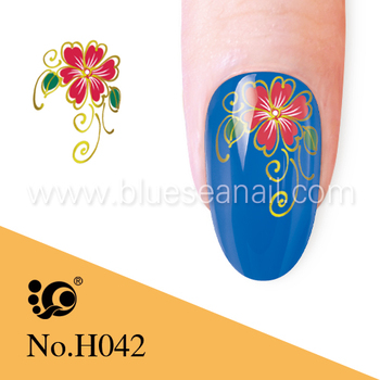 2014 New Designs Fashion Nail Art Sticker Nail Accessories Bluesea