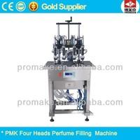 Four head semi automatic vacuum perfume bottle filling equipment machine