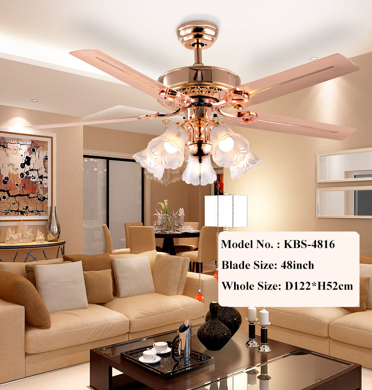 Fancy Design Pendant Fan Lamp Indoor Decorative Ceiling Fan With Light