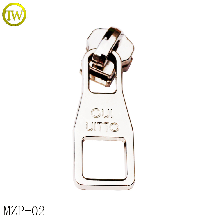Custom fashion metal zipper puller for handbag alloy zipper pull for sale