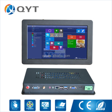 "China best 11.6"" Led panel touch screen j1900 fanless mini industrial computer"