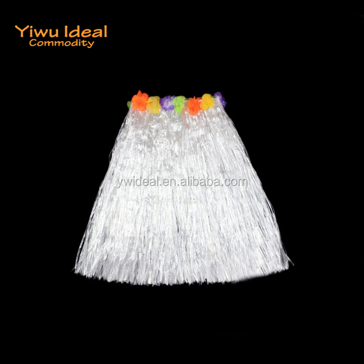 Home & Garden Children Adult Hula Show Grass Beach Dance Activity Skirt Wreath Bra Garland Fun Hawaiian Party Decorations Supplies Dress 40cm For Sale