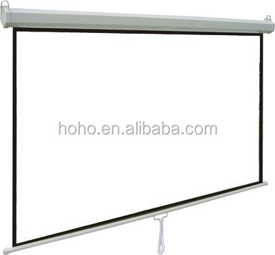 High quality manual self-lock projector screen/ pull down projection screen