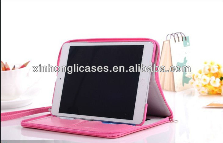 2014 HOT for ipad mini bag leather case