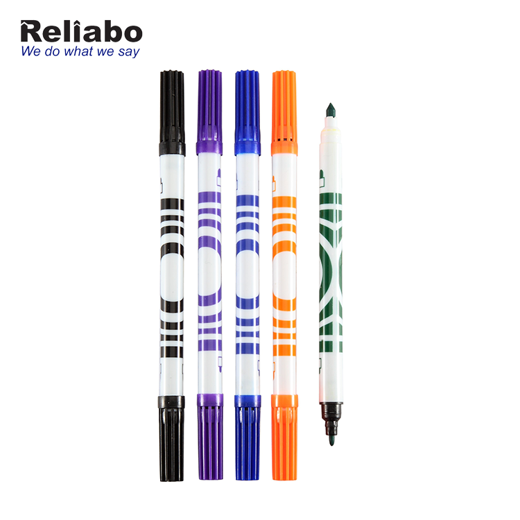 Reliabo Super September Cheap School Kids Drawing Dual Tip Multi Color Pen Art Water Color Marker