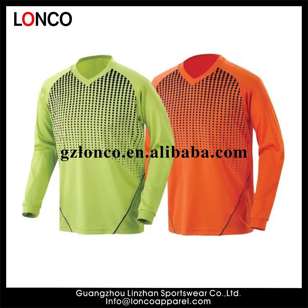 Sublimación barato encargo portero manga larga uniformes de fútbol equipo  de portero camiseta de fútbol portero b6394dffca0c7