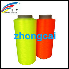 Color Polyester Flat Microfiber Yarn and Fluorescent Knit Yarn