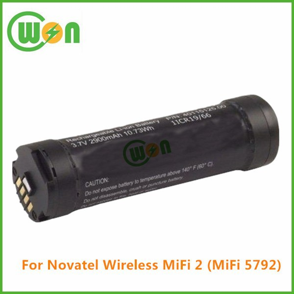 3.7V 2600mAh Battery for Novatel Wireless MiFi 2 MiFi 5792, Battery for 1ICR19/66 25018881 R1