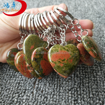 natural stone with engraved heart for keychain make