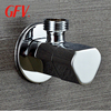 Bathroom accessories chrome plated brass cartridge copper angle valves