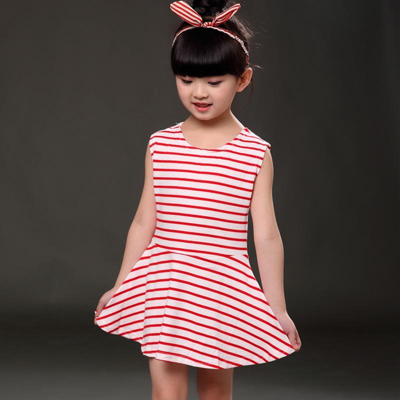 Venta al por mayor vestidos sencillos de nina rojo-Compre online los ...
