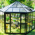 Chinese luxury prefab hexagon aluminum garden glass pavilion gazebo for sale