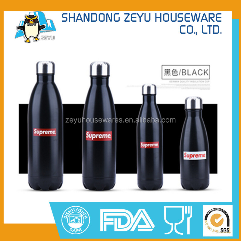 OEM ODM Swell Black Matte Bottle Vacuum Flask made in China