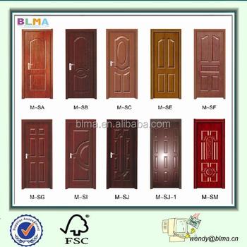 Non Painting Eco Friendly Interior Pvc Doors Prices