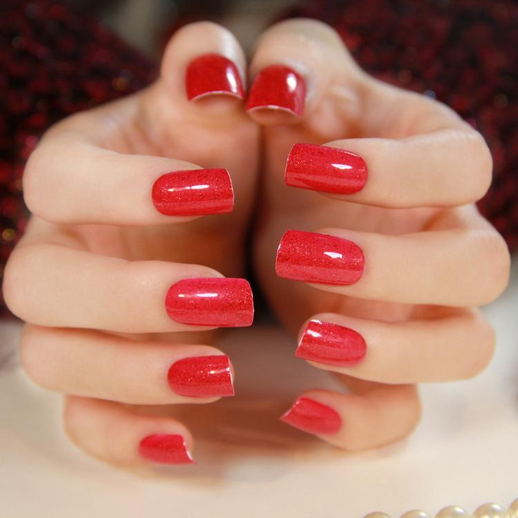 Health Beauty Nail Toe Art: Free Shipping Medium Long Square Toe Nail Art Patch White