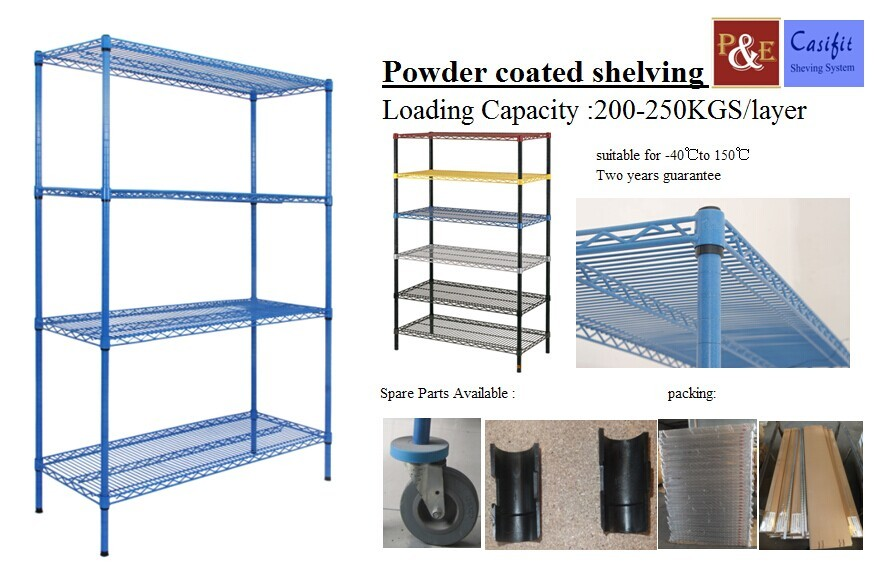Galvanized Powder Coated Steel Van Shelving Wire Shelving Rack - Buy ...