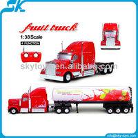 !New 1:38 heavy fruit remote control tractors rc semi truck