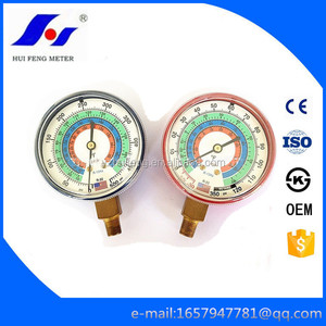 Refrigeration Air Conditioner Acc 2.5 Steel Case 0-500psi Refrigerant Freon Manifold Pressure Gauge