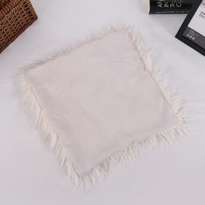 good quality 35*50cm faux fur long pile cushion covering pillow, long hair sofa faux fur cushion
