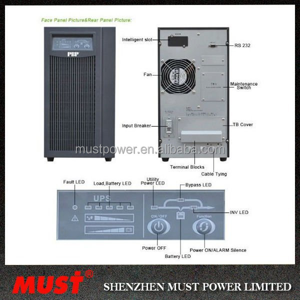 China Manufacture MUST Generator Compatible 10KVA UPS POWER BANK