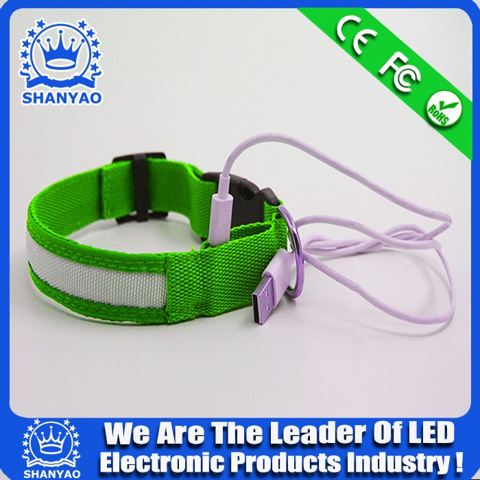 Rechargeable USB dog collar Recharging pet collor Recharging led dog collar