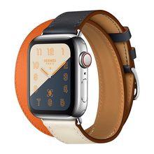 Ремешок для часов, из натуральной кожи, для Apple Watch, 44 мм, 40 мм, iwatch, серия 5, 4, 3, 2, 38, 42 мм, женский(China)