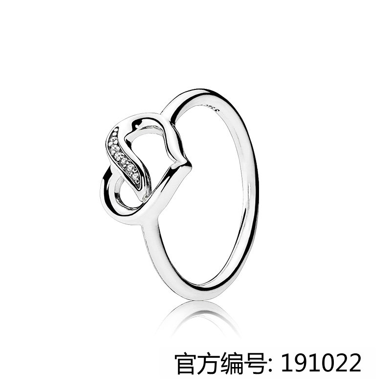 Factory Price Fashion Brand Jewelry Heart Shape Women Silver Interchangeable Stone Rings