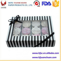 Custom paper cardboard pie boxes wholesale for cupcake packaging
