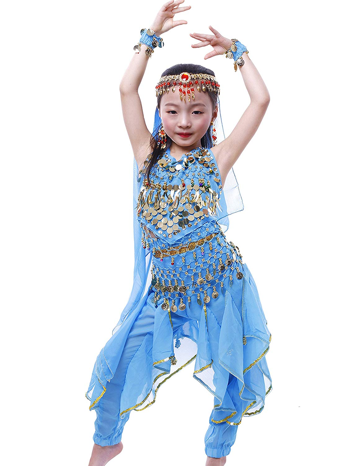 dae3f4b137643 Get Quotations · Astage Kids Girl Active India Belly Dancer Costume  Princess Halloween Wear All Sets